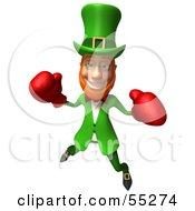 Friendly 3d Leprechaun Man Character Boxing - Version 4