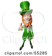 Royalty Free RF Clipart Illustration Of A Friendly 3d Leprechaun Man Character Giving The Thumbs Up by Julos