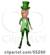 Friendly 3d Leprechaun Man Character Reaching His Hand Out
