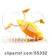 3d Yellow Banana Character Doing A Cartwheel Version 1 by Julos