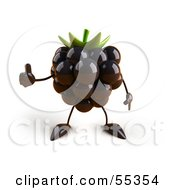Royalty Free RF Clipart Illustration Of A 3d Blackberry Character Giving The Thumbs Up Version 1