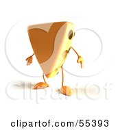 Royalty Free RF Clipart Illustration Of A 3d Cheese Wedge Character
