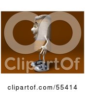 Royalty Free RF Clipart Illustration Of A 3d Cigarette Character Facing Left Version 2 by Julos