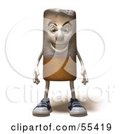 Royalty Free RF Clipart Illustration Of A 3d Cigarette Character Standing And Facing Front Version 1 by Julos