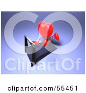 Royalty Free RF Clipart Illustration Of A Romantic 3d Red Heart Character Running On A Treadmill Version 3 by Julos