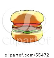 Royalty Free RF Clipart Illustration Of A Tasty Cheeseburger by Julos
