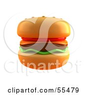 Royalty Free RF Clipart Illustration Of A 3d Cheeseburger Version 1 by Julos