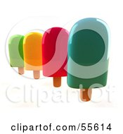 3d Group Of Ice Lollies - Version 3