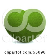 Royalty Free RF Clipart Illustration Of A Grassy Green 3d Heart