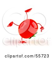 3d Tomato Character Doing A Cartwheel Version 1 by Julos