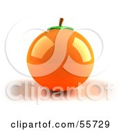 Royalty Free RF Clipart Illustration Of A Shiny 3d Naval Orange Fruit Version 1