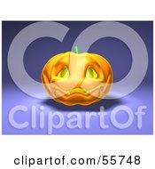 Royalty Free RF Clipart Illustration Of A Smiling 3d Halloween Pumpkin Version 1 by Julos