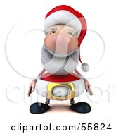 Royalty Free RF Clipart Illustration Of A 3d Santa Character Facing Front Version 1 by Julos