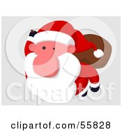 Royalty Free RF Clipart Illustration Of A Cartoon Styled Santa Character Flying Version 2