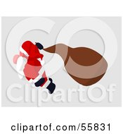 Royalty Free RF Clipart Illustration Of A Cartoon Styled Santa Character Flying Version 4