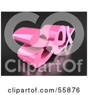 Royalty Free RF Clipart Illustration Of The 3d Word SEX In Pink Version 3 by Julos