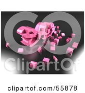 Royalty Free RF Clipart Illustration Of Particles Around The 3d Word SEX In Pink Version 2