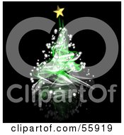 Royalty Free RF Clipart Illustration Of A Green Magical Spiral Christmas Tree Version 1