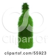 Royalty Free RF Clipart Illustration Of A 3d Green Grassy Wine Bottle by Julos