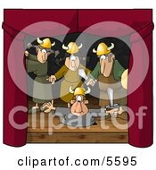 Actors And Actresses Reinacting The Viking Age Clipart Illustration