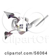3d Chrome Home With Three Shooting Arrows Version 1 by Julos