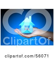 Royalty Free RF Clipart Illustration Of A Photographed Human Hand Holding A 3d House