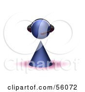 Royalty Free RF Clipart Illustration Of A 3d Purple Avatar Person Wearing A Headset Version 1