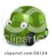 Royalty Free RF Clipart Illustration Of A 3d Grass Car Character Version 2