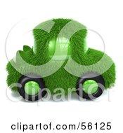 3d Green Grassy Car Version 1