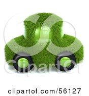 3d Green Grassy Car Version 2
