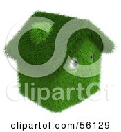 Royalty Free RF Clipart Illustration Of A 3d Grassy House Character Version 3
