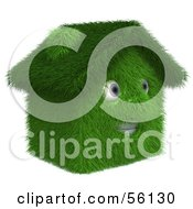 Royalty Free RF Clipart Illustration Of A 3d Grassy House Character Version 2