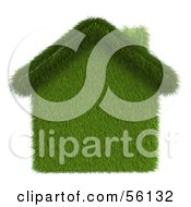 Royalty Free RF Clipart Illustration Of A 3d Grass Home Version 1