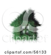 Royalty Free RF Clipart Illustration Of A 3d Grassy Green House With Windows Version 2