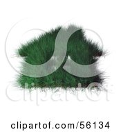 Royalty Free RF Clipart Illustration Of A 3d Grassy Green House With Windows Version 1