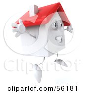 3d White Clay Home Character Jumping Version 2 by Julos