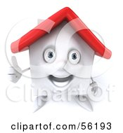 3d White Clay Home Character Giving The Thumbs Up Version 1 by Julos