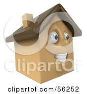 3d Brown Clay Home Character Facing Right by Julos