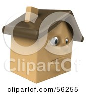 3d Brown Clay Home Character Pouting by Julos