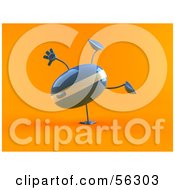 Royalty Free RF Clipart Illustration Of A 3d Computer Mouse Character Doing A Hand Stand Version 1