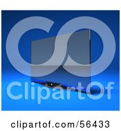 Royalty Free RF Clipart Illustration Of A Slim Flat Screen 3d Plasma Television Screen On A Mount Version 3