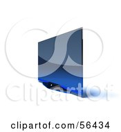 Royalty Free RF Clipart Illustration Of A Slim Flat Screen 3d Plasma Television Screen On A Mount Version 9