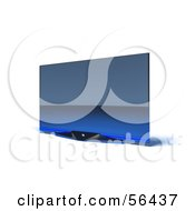 Royalty Free RF Clipart Illustration Of A Slim Flat Screen 3d Plasma Television Screen On A Mount Version 7
