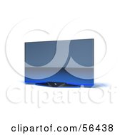 Royalty Free RF Clipart Illustration Of A Slim Flat Screen 3d Plasma Television Screen On A Mount Version 6