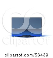 Royalty Free RF Clipart Illustration Of A Slim Flat Screen 3d Plasma Television Screen On A Mount Version 10