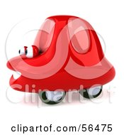 Royalty Free RF Clipart Illustration Of A 3d Red Car Character Facing Left And Smiling Version 3 by Julos