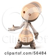 3d Robie Robot Character Gesturing With His Hand Version 1 by Julos
