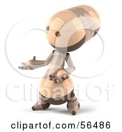 3d Robie Robot Character Gesturing With His Hand Version 2 by Julos