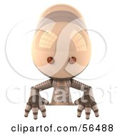3d Robie Robot Character Standing Behind A Blank Sign by Julos
