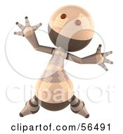 3d Robie Robot Character Jumping Version 1 by Julos